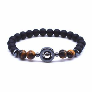NWT UNISEX Tiger Eye Brown Beads Bracelet